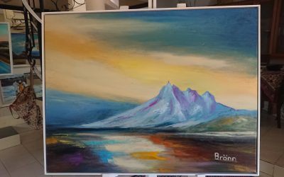 Painting an abstract landscape