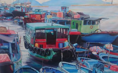Cheung Chau Sampan painting
