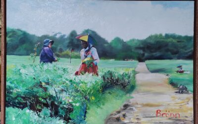 Painting the tea plantation workers in Mauritius